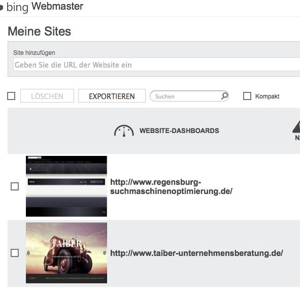 Bing Sitemap: Homepage Zu Bing Webmaster Tool Hinzufügen