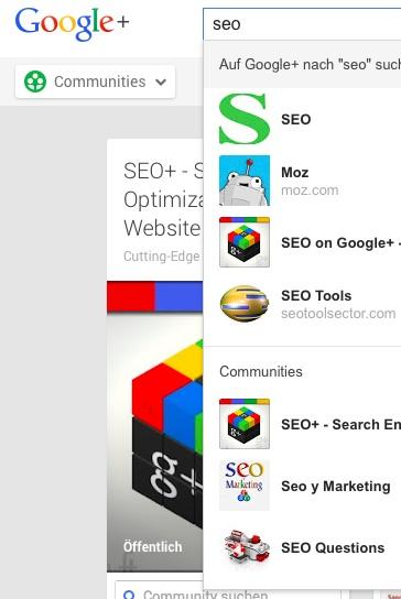 Google+ SEO Gruppe