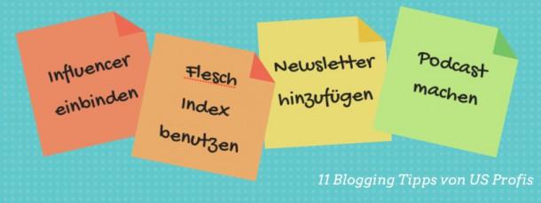 11 Blogger Tipps und die beste Blog Taktik