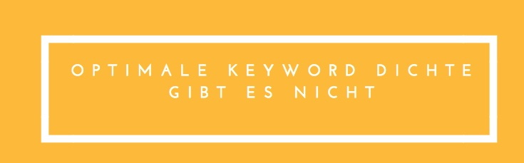 Optimale Keyword Dichte