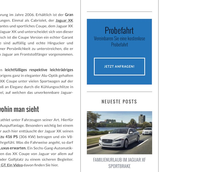 Call to Action Button blau