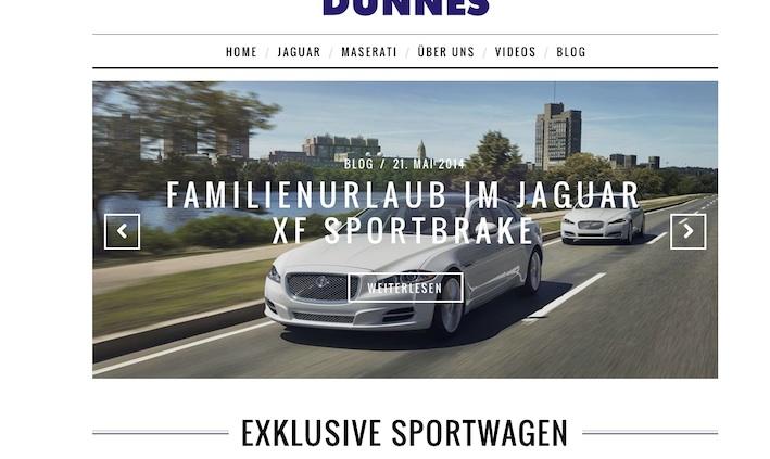 Sportwagen kaufen Persuasives Web Design