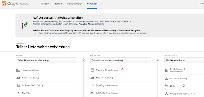 Google Analytics Conversion Ziele 1
