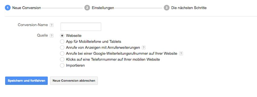Conversion Google Adwords mit Contactform 7
