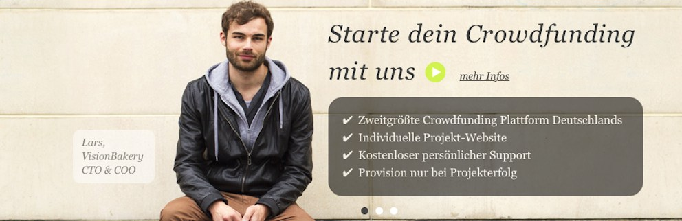 Crowdfunding mit VisionBakery