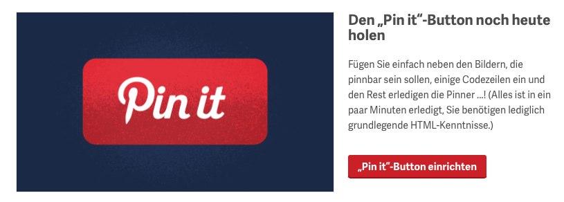 Pin it Button für Webseite