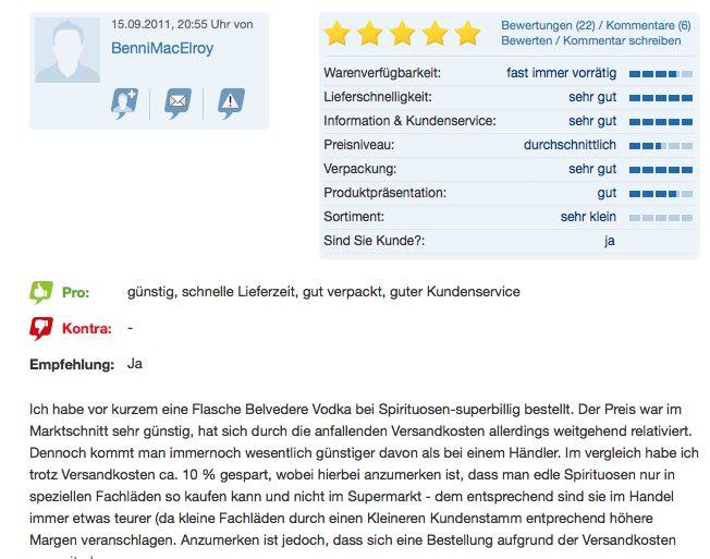 Kundenbewertungen für Onlineshop SEO nutzen