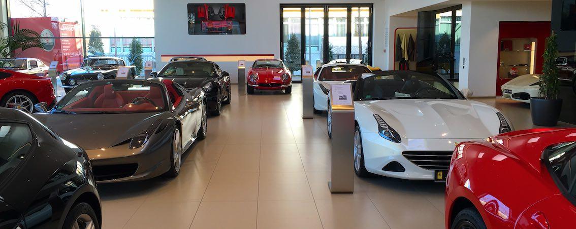 Autohandel der Zukunft Ferrari