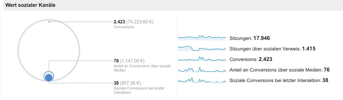 Wert sozialer Kanäle Google Analytics