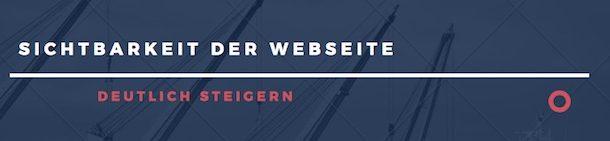 Sichtbarkeit der Webseite schnell steigern