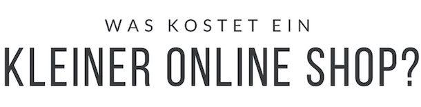 Kosten Erstellung kleiner Onlineshop